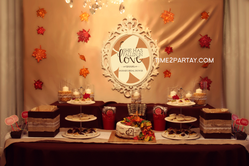 A fall themed bridal shower time partay