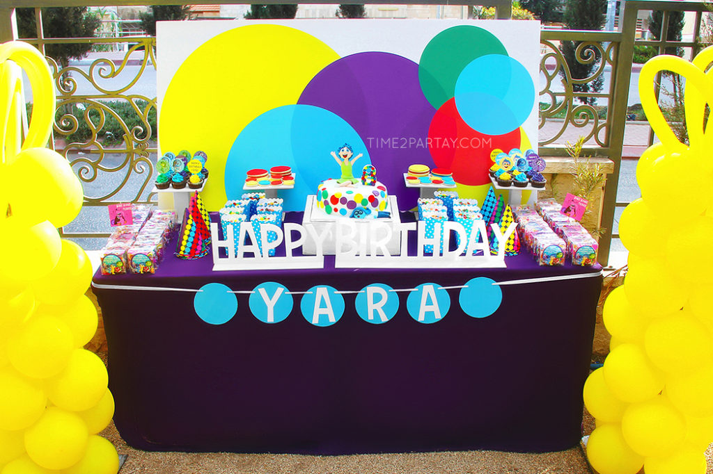 An Inside Out Themed Birthday Party