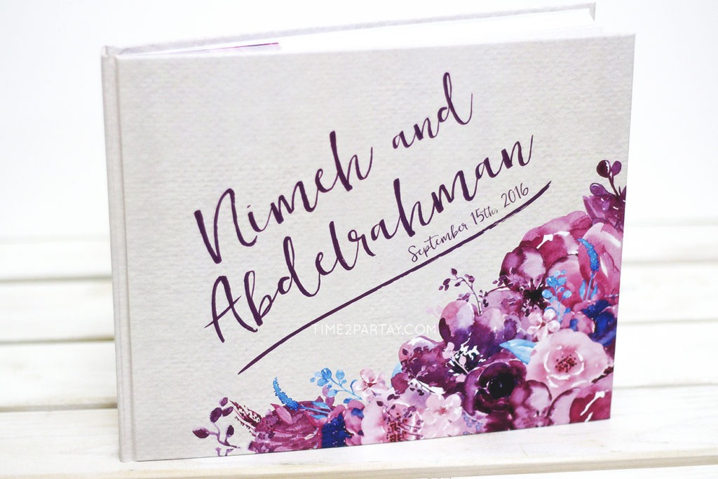 A Floral Wedding Guest Book
