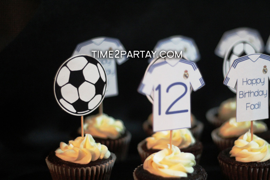 Real Madrid Football Soccer Themed Birthday Items Time2partay Com