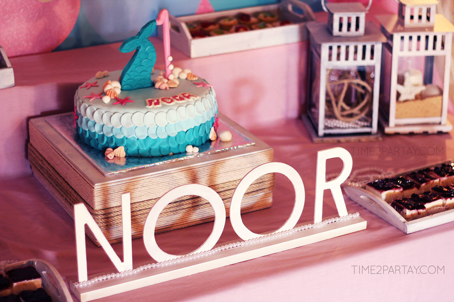 Noor S Mermaid Themed First Birthday Time2partay Com