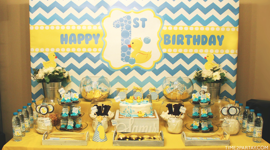 A Rubber Ducky Themed Birthday
