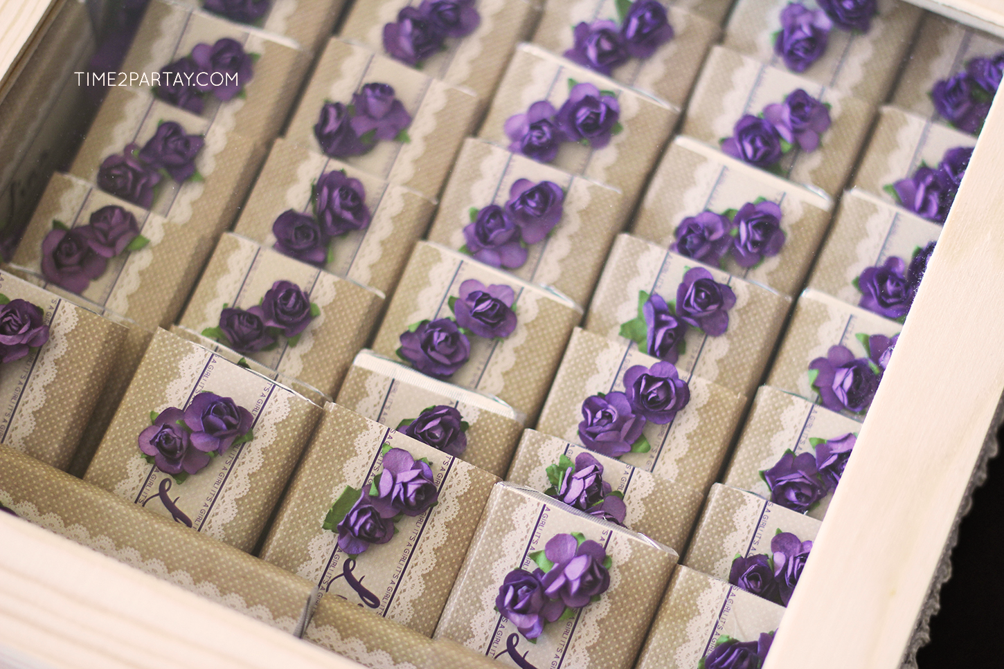 Floral Chocolate Baby Shower Favors