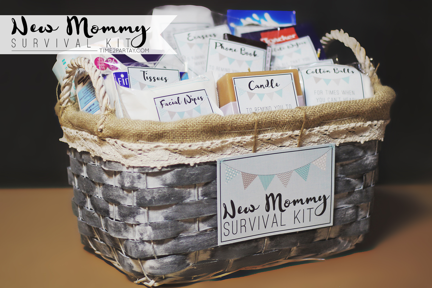 A New Mommy Survival Kit Time2partay