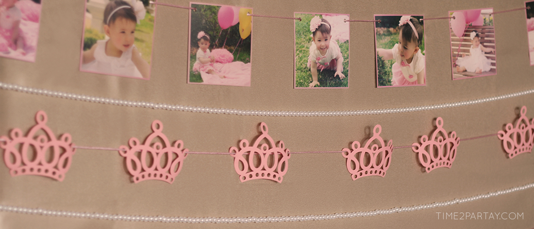 Pink and Gold Princess Themed Birthday