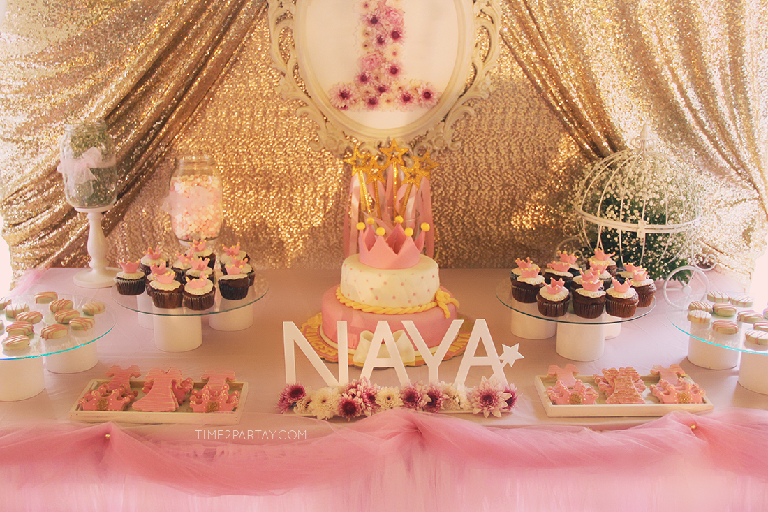 A Pink Amp Gold Princess Themed Birthday Time2partay Com