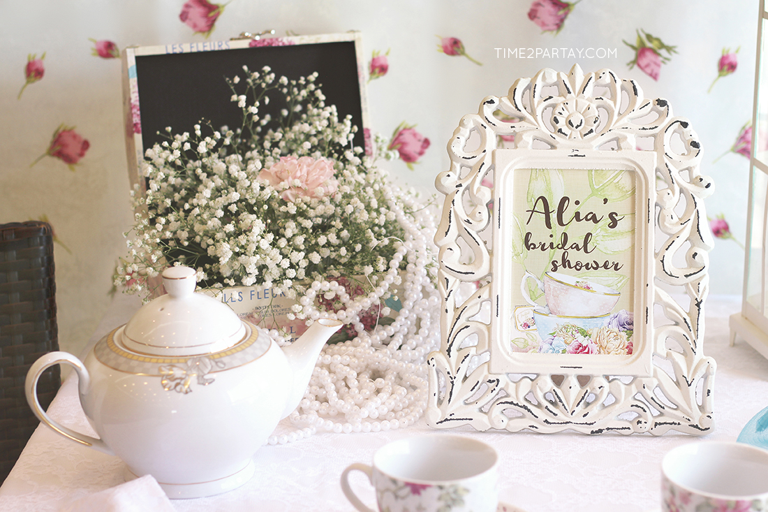 Alia s afternoon tea bridal shower for Afternoon tea decoration ideas