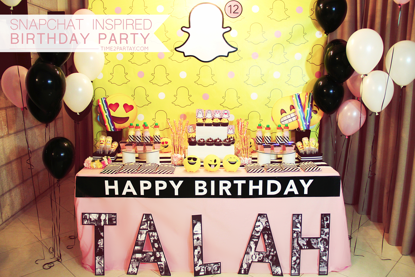 Snapchat Themed Birthday