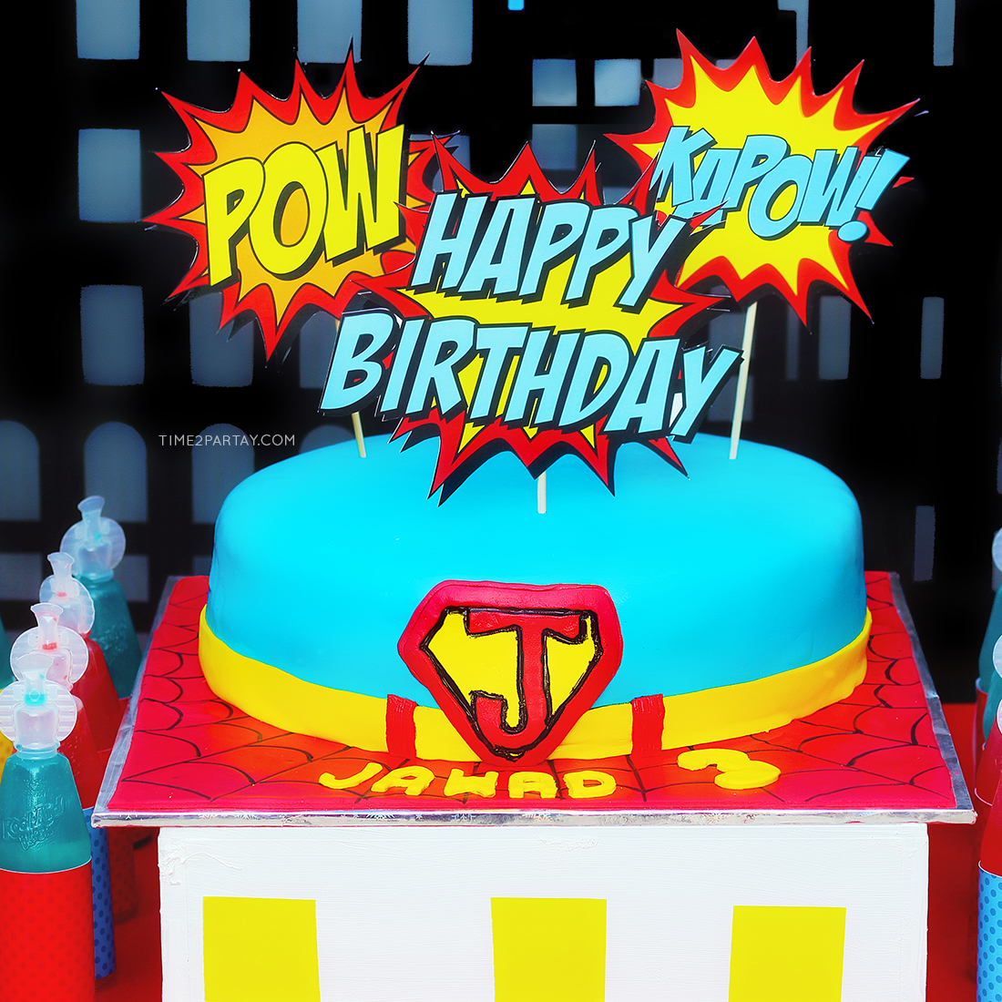 A Superhero Themed Birthday Party Time2partay