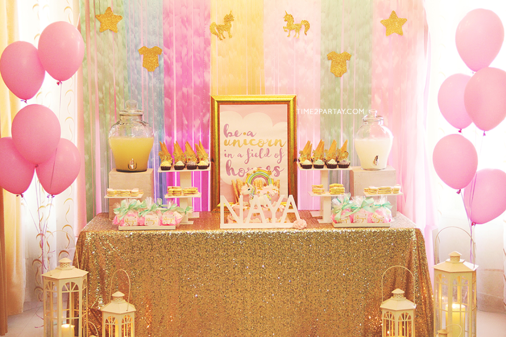 Baby Shower Unicorn Theme ~ A unicorn themed welcome baby party time partay