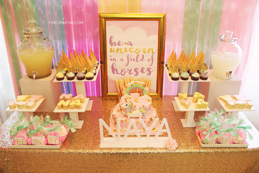 A Unicorn Themed Welcome Baby Party | Time2Partay.com