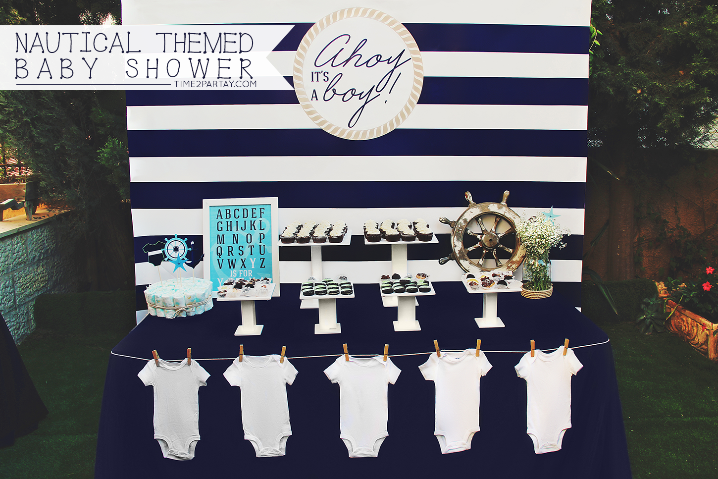 A Nautical Themed Baby Shower | Time2Partay.com