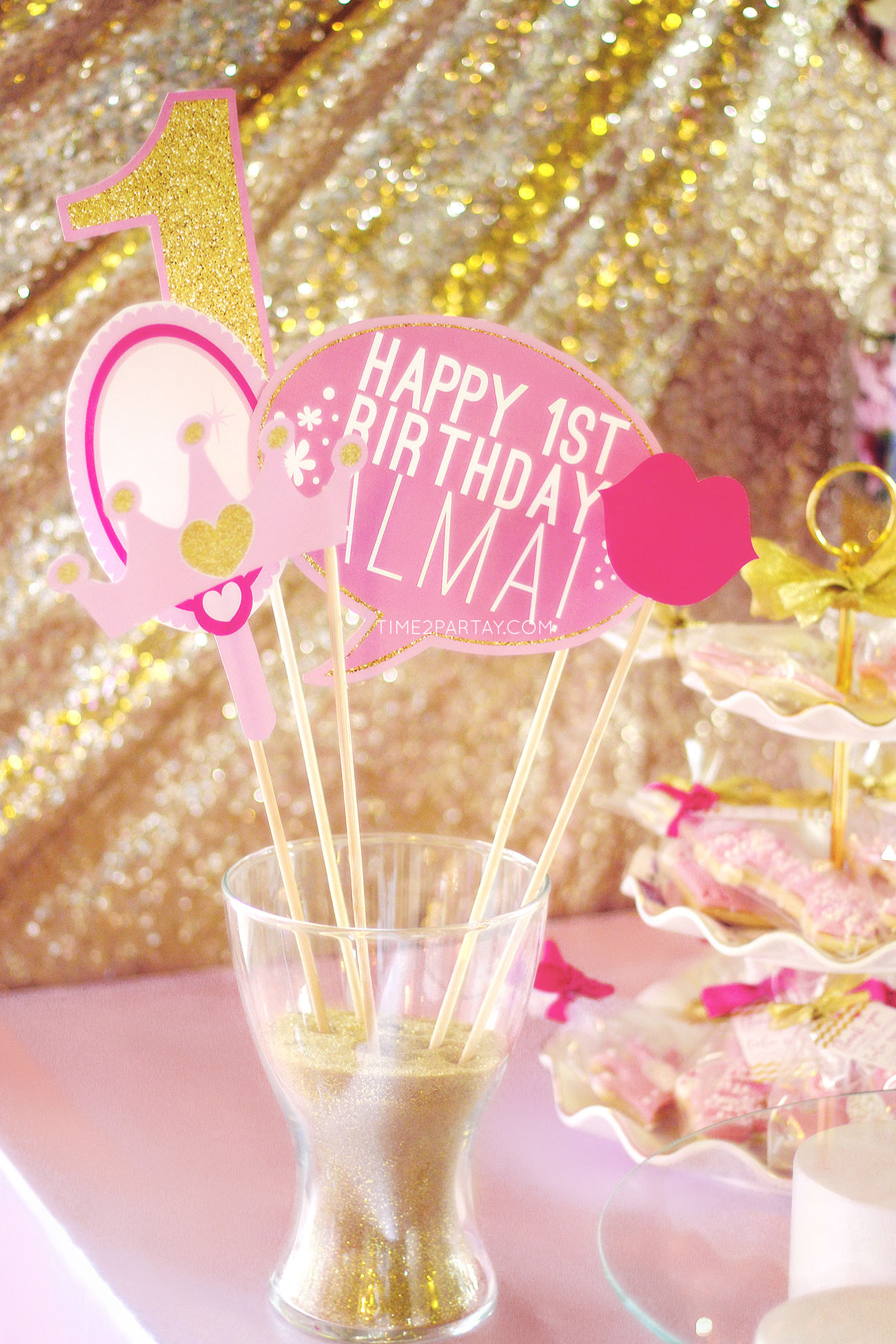 Alma\'s Princess Themed First Birthday Party | Time2Partay.com