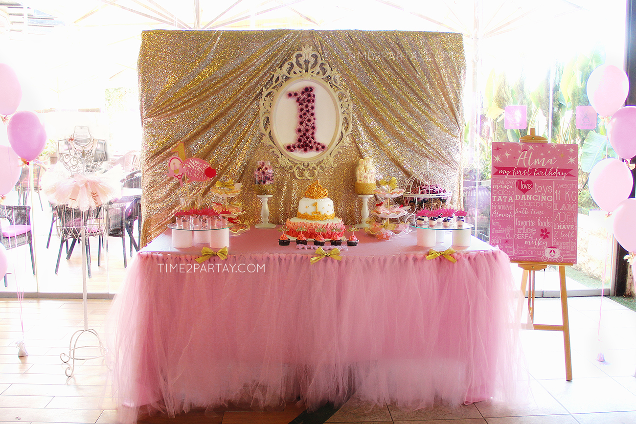 Alma S Princess Themed First Birthday Party Time2partay Com