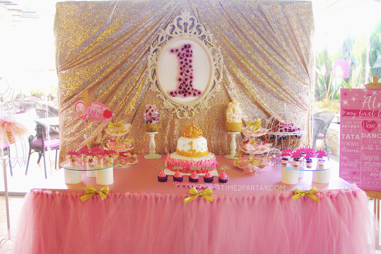 a princess themed first birthday party