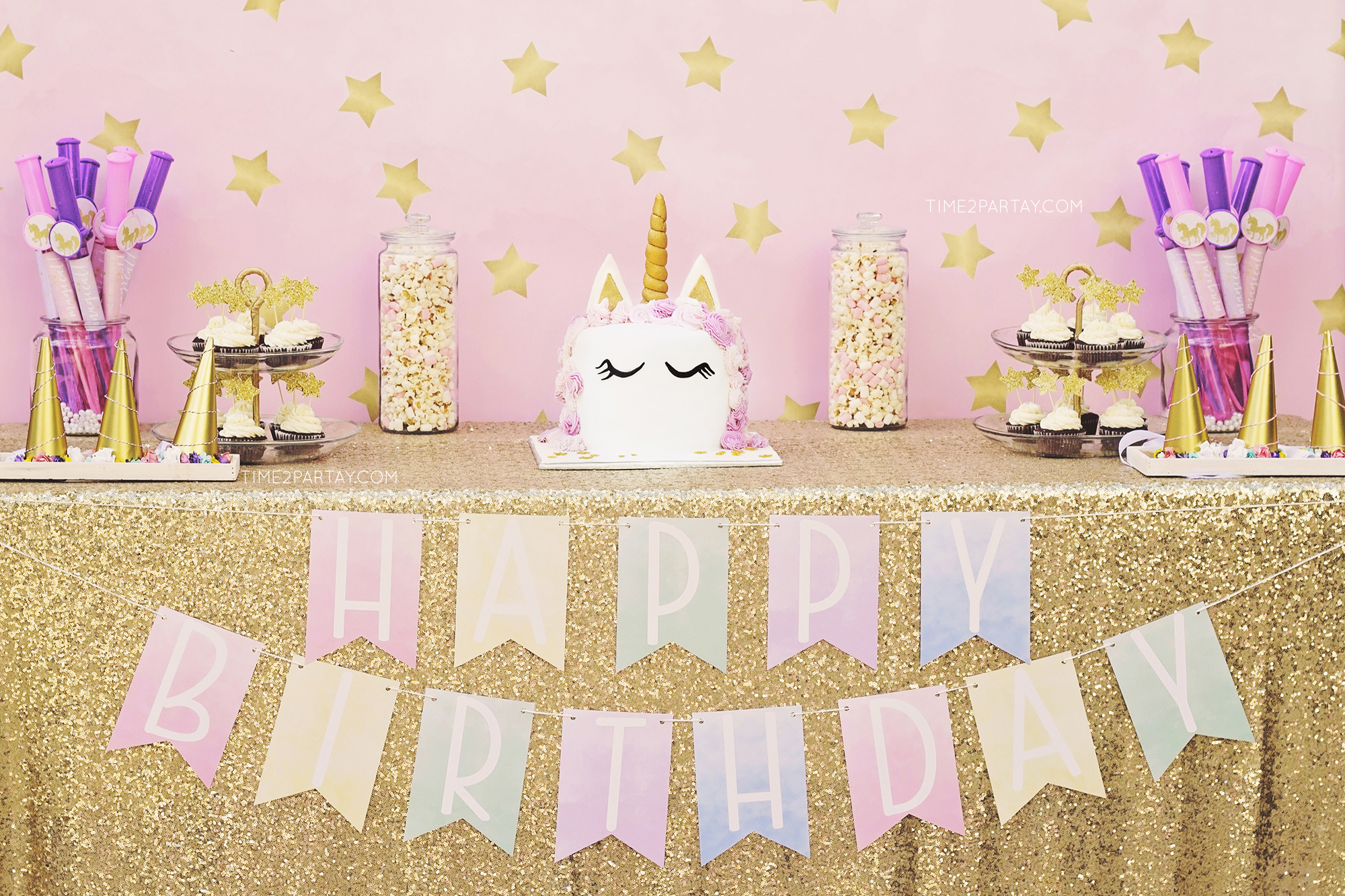 A Unicorn Themed Birthday Party
